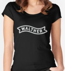 Walther Banner - White Women's Fitted Scoop T-Shirt
