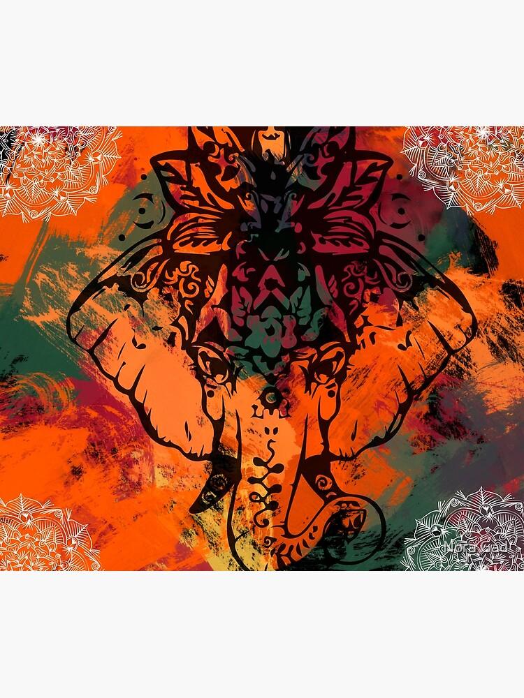 Elephant Mandala by NoraMohammed