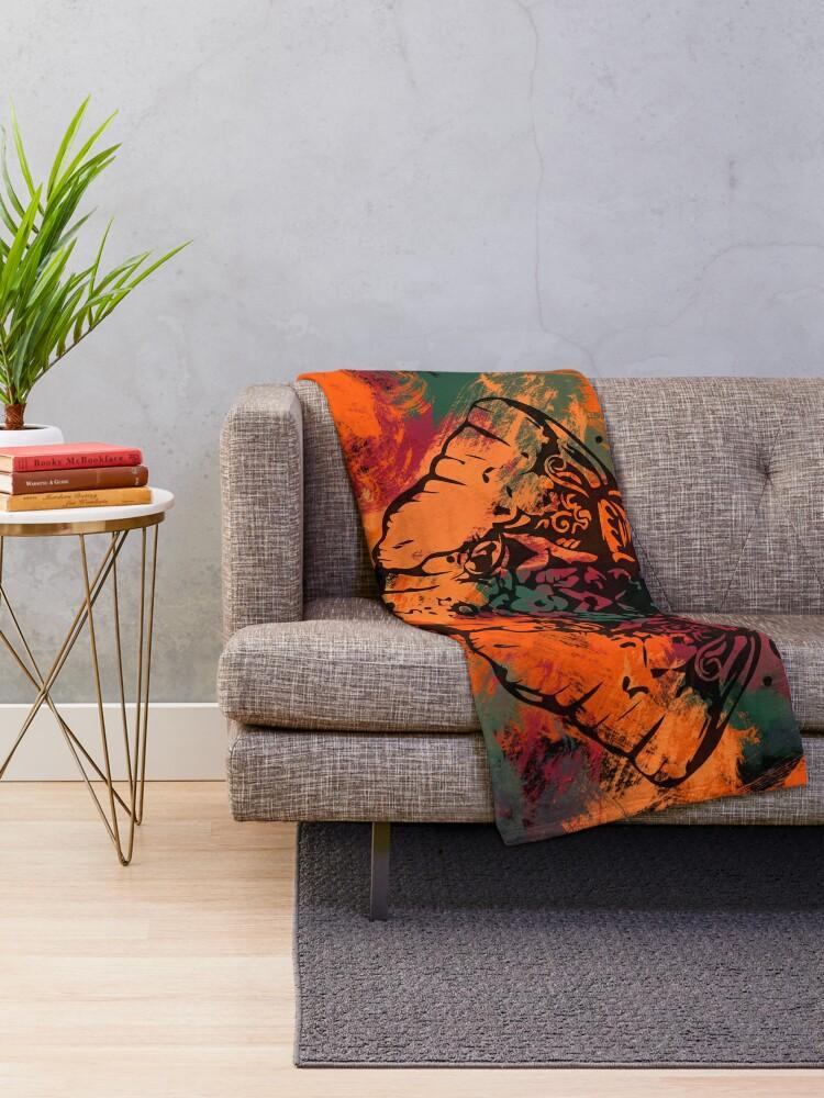 Alternate view of Elephant Mandala Throw Blanket