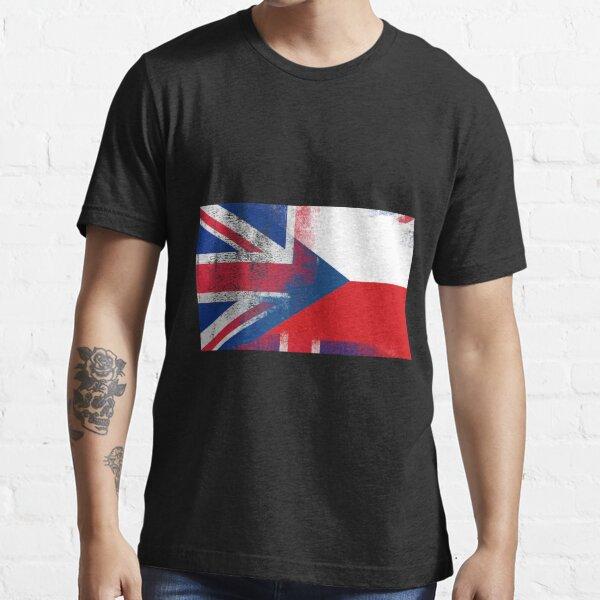 British Czech Half Czech Republic Half UK Flag Essential T-Shirt