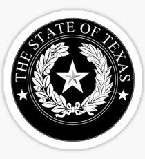 Texas State Seal Monochrome Sticker
