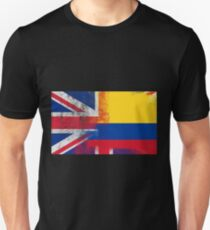 British Colombian Half Colombia Half UK Flag Unisex T-Shirt