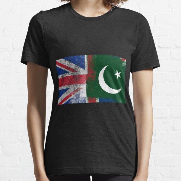 Daughter of Pakistan Pakistani Flag Map Ladies Fit T-shirt White
