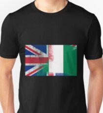 British Nigerian Half Nigeria Half UK Flag Unisex T-Shirt