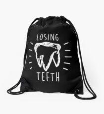 Losing Teeth (White) Drawstring Bag
