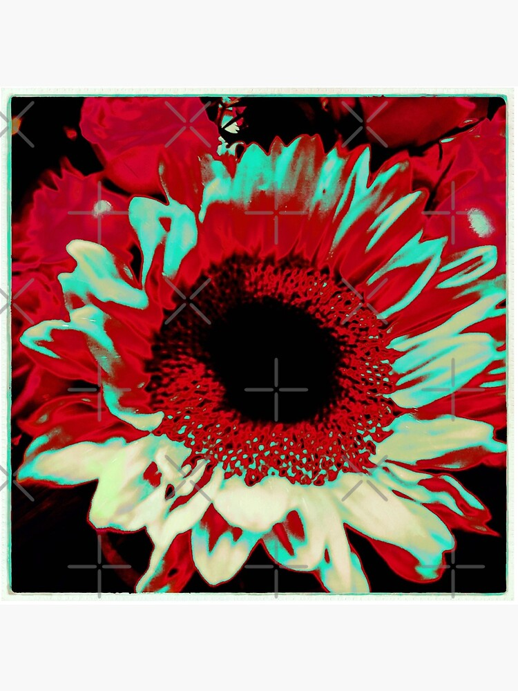 Bright Floral - Fiery Sunflower Design by OneDayArt