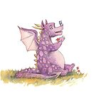 Baby Dragon and Butterfly by Krista Brennan