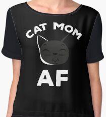 Cat Mom AF Shirt Women's Chiffon Top