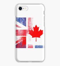 British Canadian Half Canada Half UK Flag iPhone Case/Skin