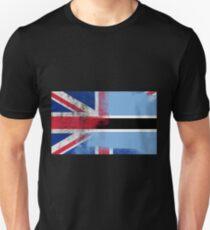 British Botswanan Half Botswana Half UK Flag Unisex T-Shirt