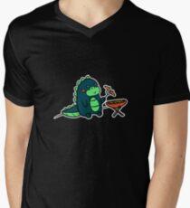 Kawaii Cute BBQ Dragon Dino Humor Geek Design Men's V-Neck T-Shirt