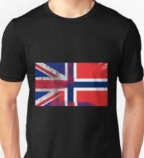 British Norwegian Half Norway Half UK Flag T-Shirt