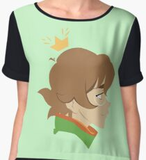 Little Girl Green Women's Chiffon Top