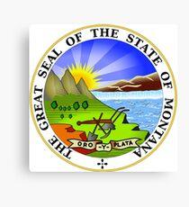 Montana State Seal Canvas Print