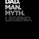 Dad Mann Mythos Legende Typ verblassen von vomaria