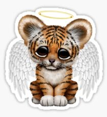 Cute Baby Tiger Cub Angel Sticker