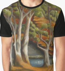 Ghost gums at Gregory Gorge original oil painting Graphic T-Shirt