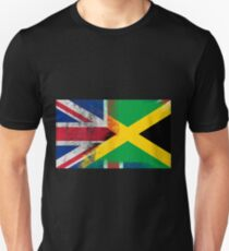 British Jamaican Half Jamaica Half UK Flag Unisex T-Shirt