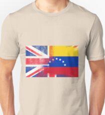 British Venezuelan Half Venezuela Half UK Flag T-Shirt