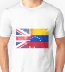 British Venezuelan Half Venezuela Half UK Flag Unisex T-Shirt