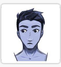blue boy Sticker