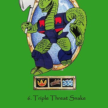 Battle Beasts 6. Triple Threat Snake by Jonotron