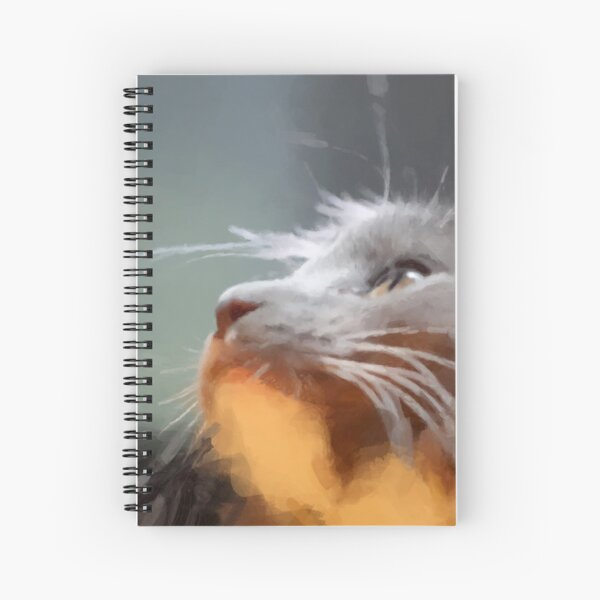 Cat Digital Painting Spiral Notebook