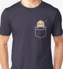 Kawaii Cute Sloth Pocket  T-Shirt