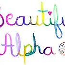 Beautiful Alpha Watercolor by MandyRosko