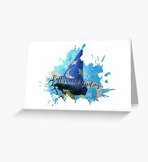 Magic Hat Splatter Paint Greeting Card