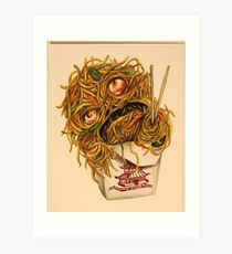 Wok Ness Monster Art Print