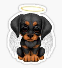 Cute Doberman Pincer Puppy Angel Sticker