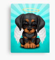 Cute Doberman Pincer Puppy Angel Canvas Print