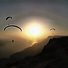 Paragliders Flying Without Wings by taiche