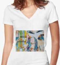 Colorblind  Women's Fitted V-Neck T-Shirt