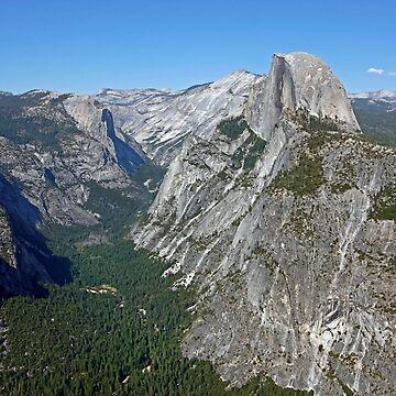 Yosemite NP California - Half Dome & Yosemite Valley by Buckwhite