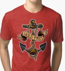 Traditional Hold Fast Nautical Anchor Tri-blend T-Shirt