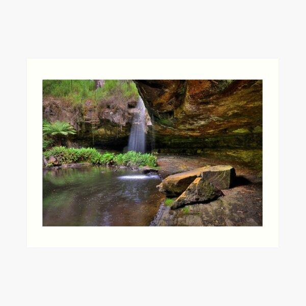 0535 Lower Kalimna Falls 3 - Otways Art Print