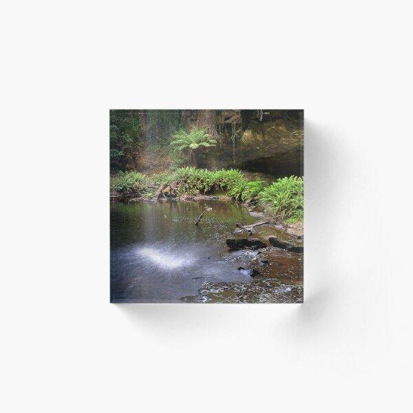 0536 Lower Kalimna Falls 2 - Otways Acrylic Block