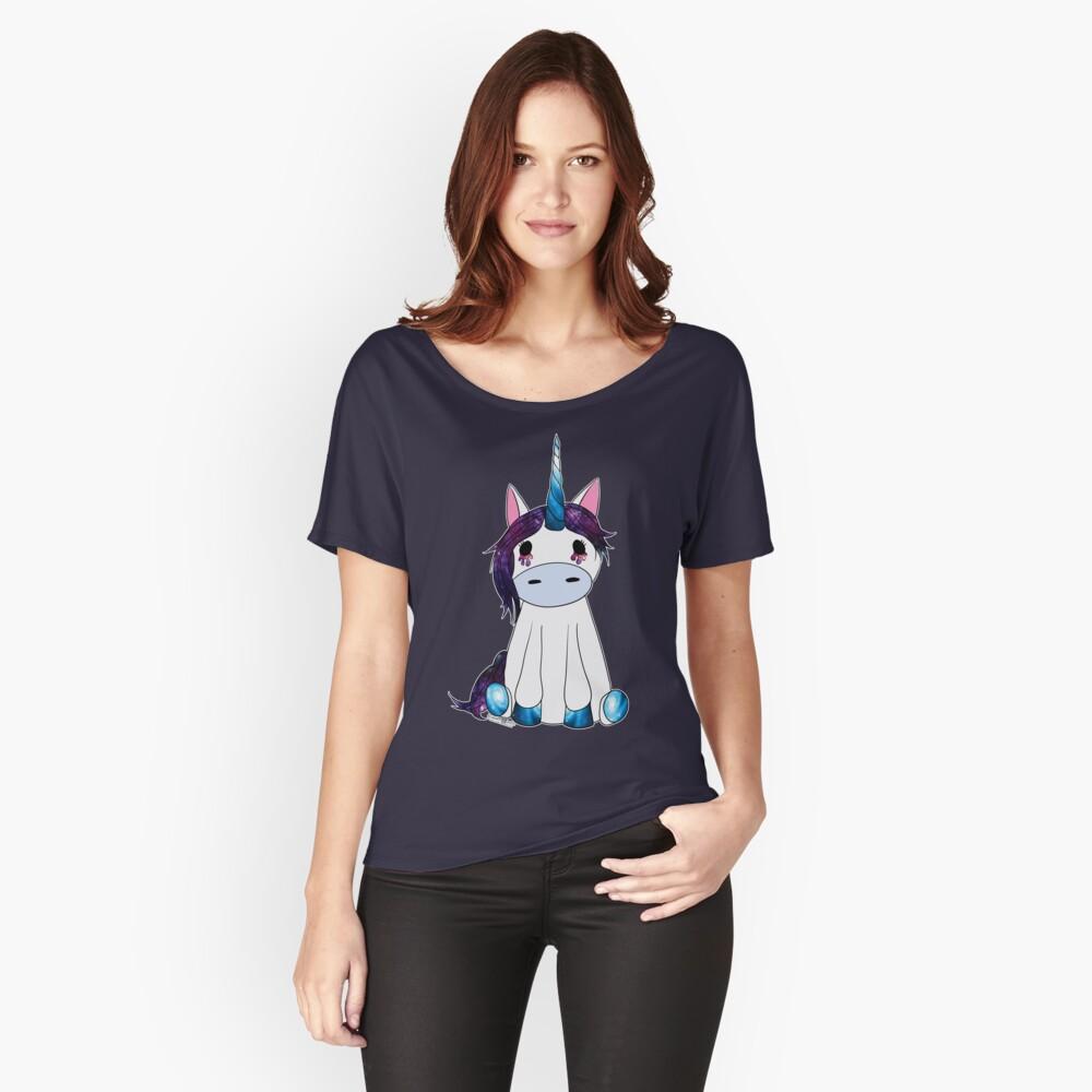Creepy & Cute Galaxy Unicorn Relaxed Fit T-Shirt