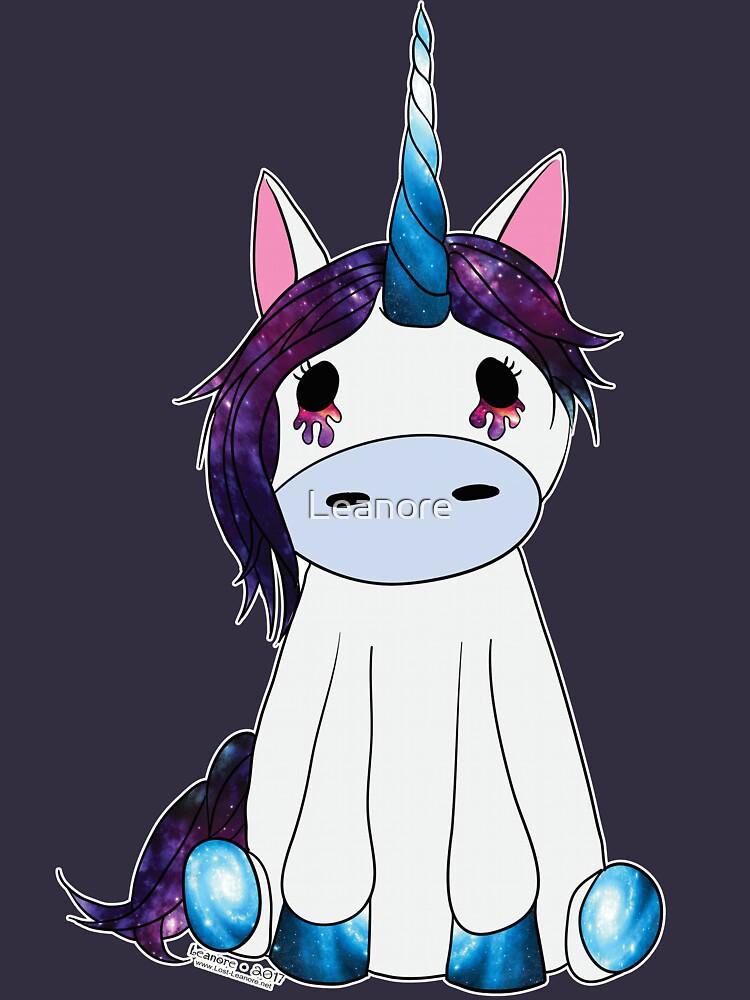 Creepy & Cute Galaxy Unicorn by Leanore