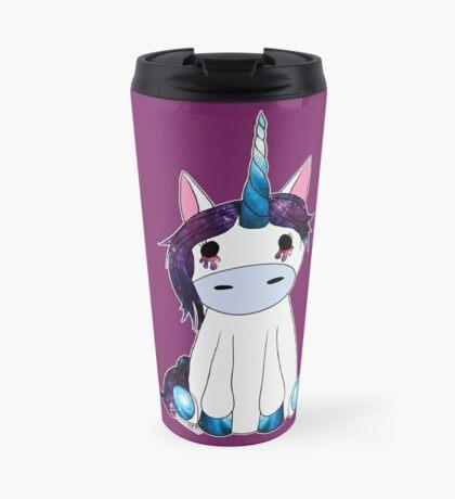 Creepy & Cute Galaxy Unicorn Travel Mug