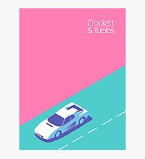 Crockett & amp; Tubbs - Magenta Fotodruck