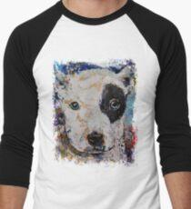 Pit Bull Puppy Men's Baseball ¾ T-Shirt