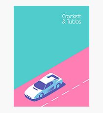 Crockett & Tubbs - Aqua Photographic Print