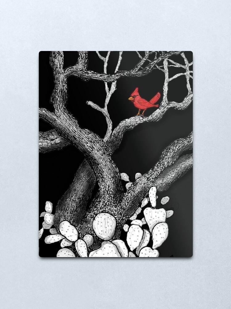 Alternate view of The return of the Cardinal  Metal Print