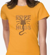 Facehugger Womens Fitted T-Shirt