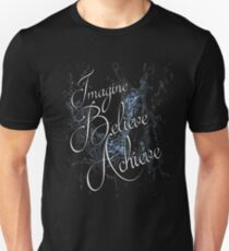 Imagine Believe Achieve Cool Trending Soft Screen Printed Summer Graphic Gift Tshirt T-Shirt