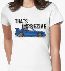 That's Imprezive! Subaru Impreza WRX STi 22B Women's Fitted T-Shirt