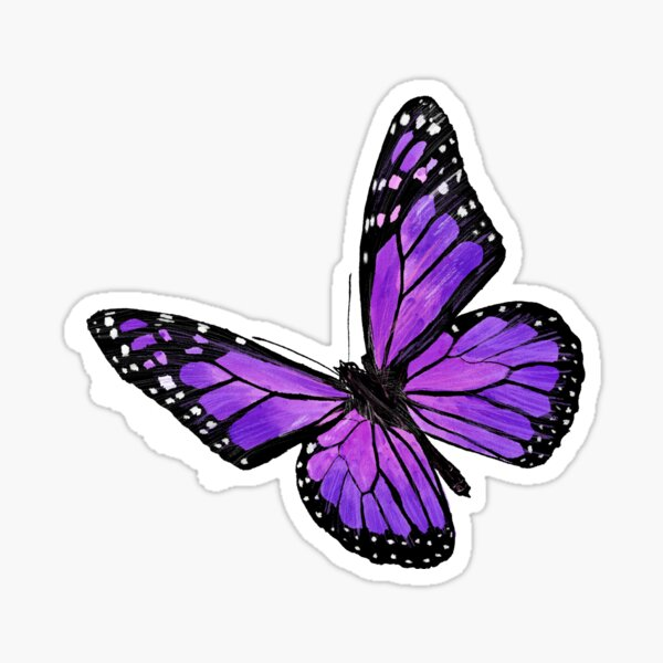Purple butterfly Sticker